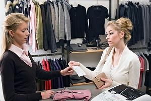 магазин одежды - возврат товара
