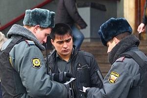 проверка документов сотрудниками полиции