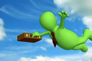 летящий человечек