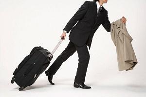 человек с чемоданом