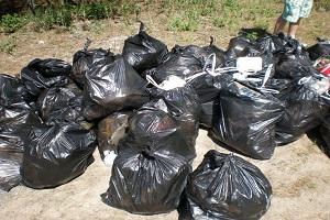 мусор на обочине