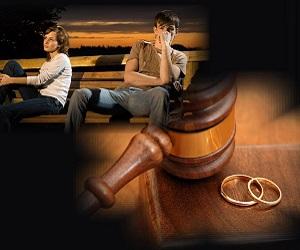 развод-пара на скамейке